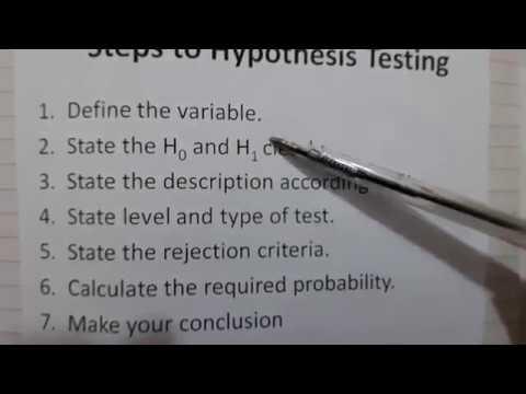 TKMaths A Level Maths S2 Hypothesis 1