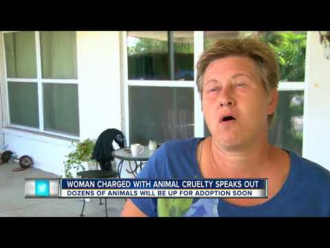83 animals removed from North Port home, woman charged with animal cruelty