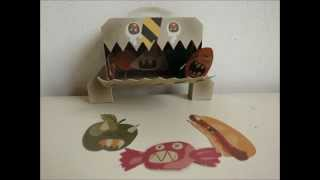 papercraft - paper monsters: A horrible breakfast and other monstrous affairs... - dutchpapergirl