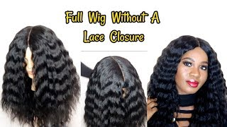 HOW TO MAKE A WIG WITHOUT A FRONTAL| Reusing My Old Weave| Hot Glue Method
