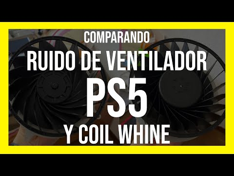 Comparando ruido de ventilador en Playstation 5 y su Coil Whine. PS5 Fan noise vs coil whine.