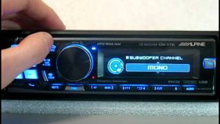Видеообзор автомагнитолы Alpine CDA-117Ri