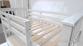 White Bunk Bed - Neptune