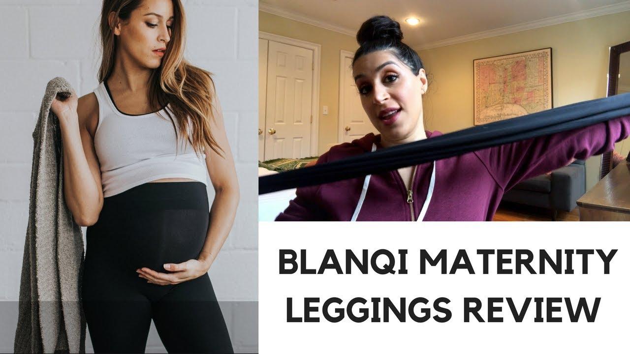 f7c4824573073 Blanqi Maternity Leggings Review - YouTube