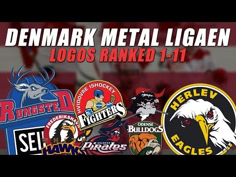 Denmark Metal Ligaen Logos Ranked 1-11
