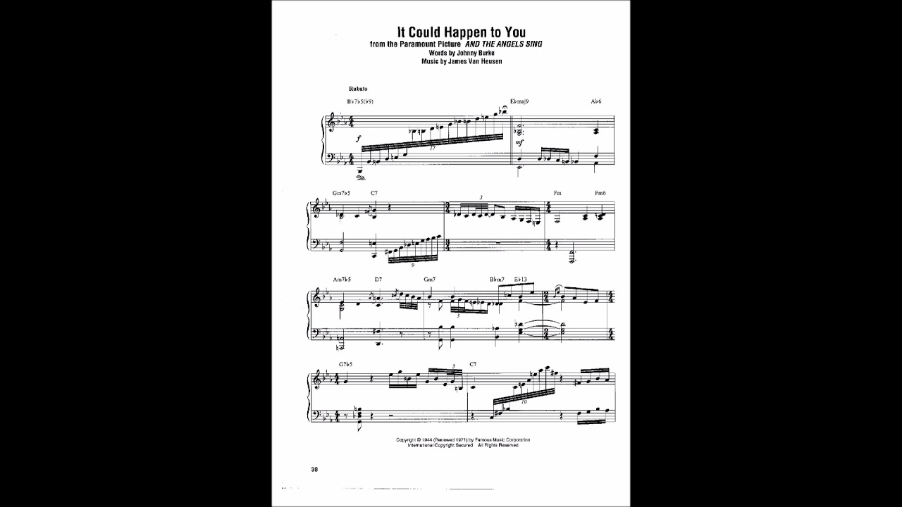 Bud Powell-It Could Happen to You-Transcription-PDF - YouTube