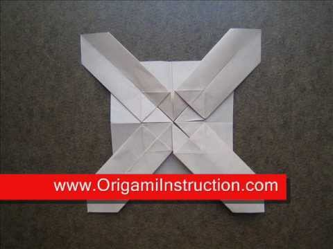 How To Make An Origami Cross Pattern Youtube