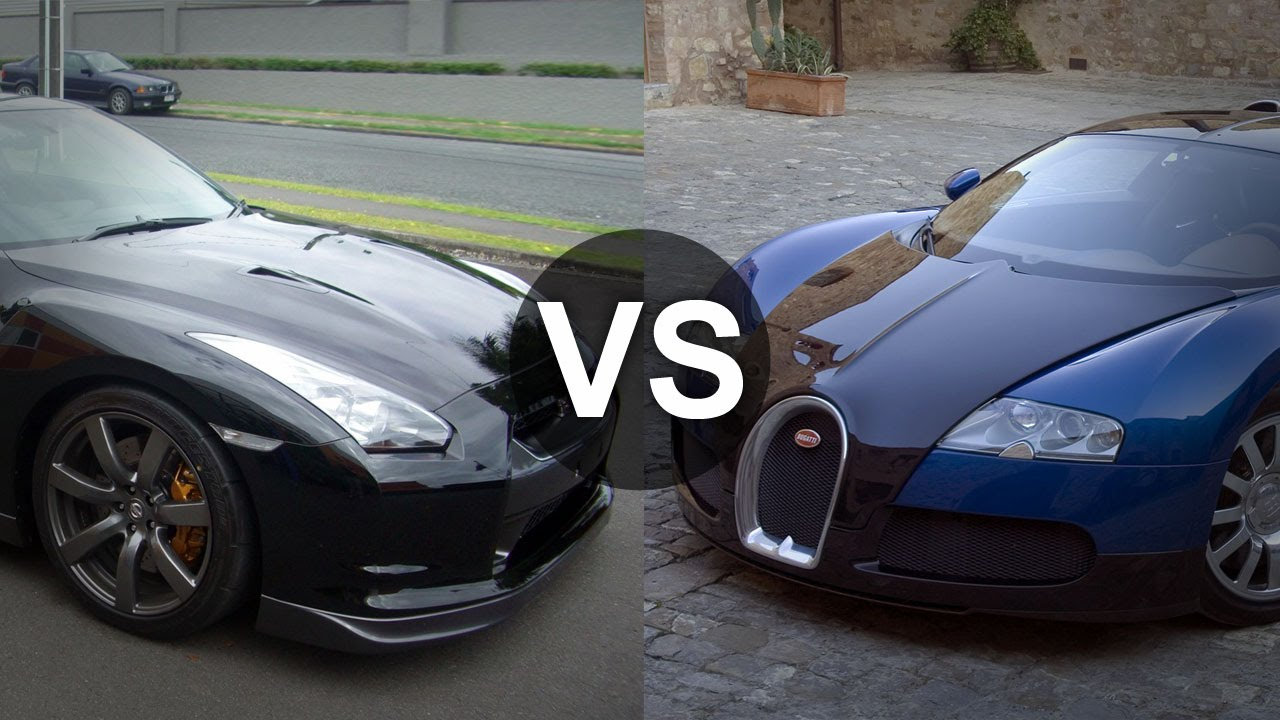 Bugatti Veyron Vs Nissan GTR R35 Drag Race   YouTube