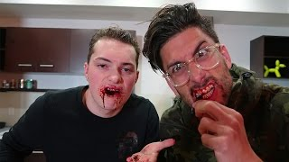 EATING GLASS CHALLENGE! *DO NOT TRY!*