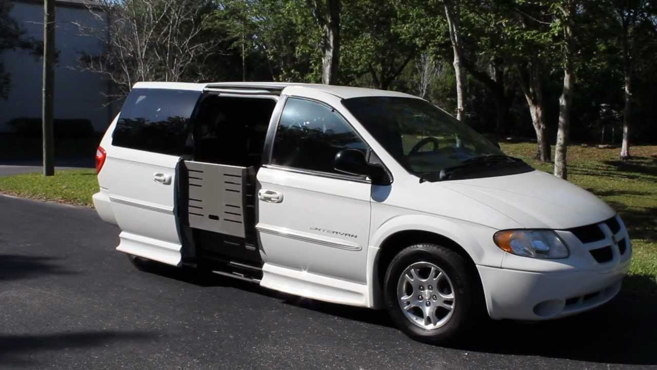 Wheelchair Van Handicap Ramp Van 2002 Dodge Grand Caravan Sport 93k