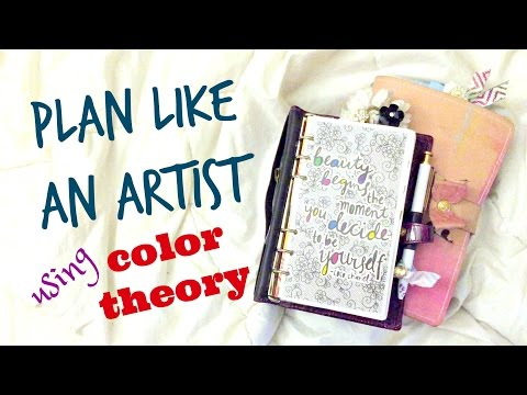 White Space Planning Using Color Theory in a Personal Planner || Plan Like an Artist Series