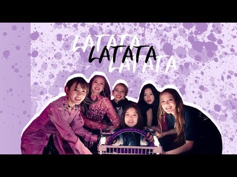 [DANCE TUTORIAL] (G)IDLE - LATATA ; Dance Practice Part By Part