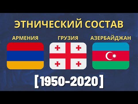 Население Грузии, Азербайджана и Армении (1950-2019) [ENG SUB]