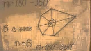 Сумма внутренних углов выпуклого многоугольника Доказательство