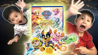 Paw Patrol Mighty Pups Surprise Mystery Box Discovered by Kids || Playtime with Keith