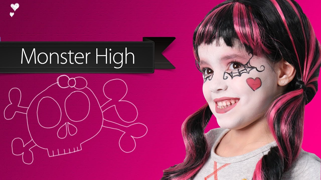 Maquillage monster high youtube - Maquillage de sorciere pour petite fille ...