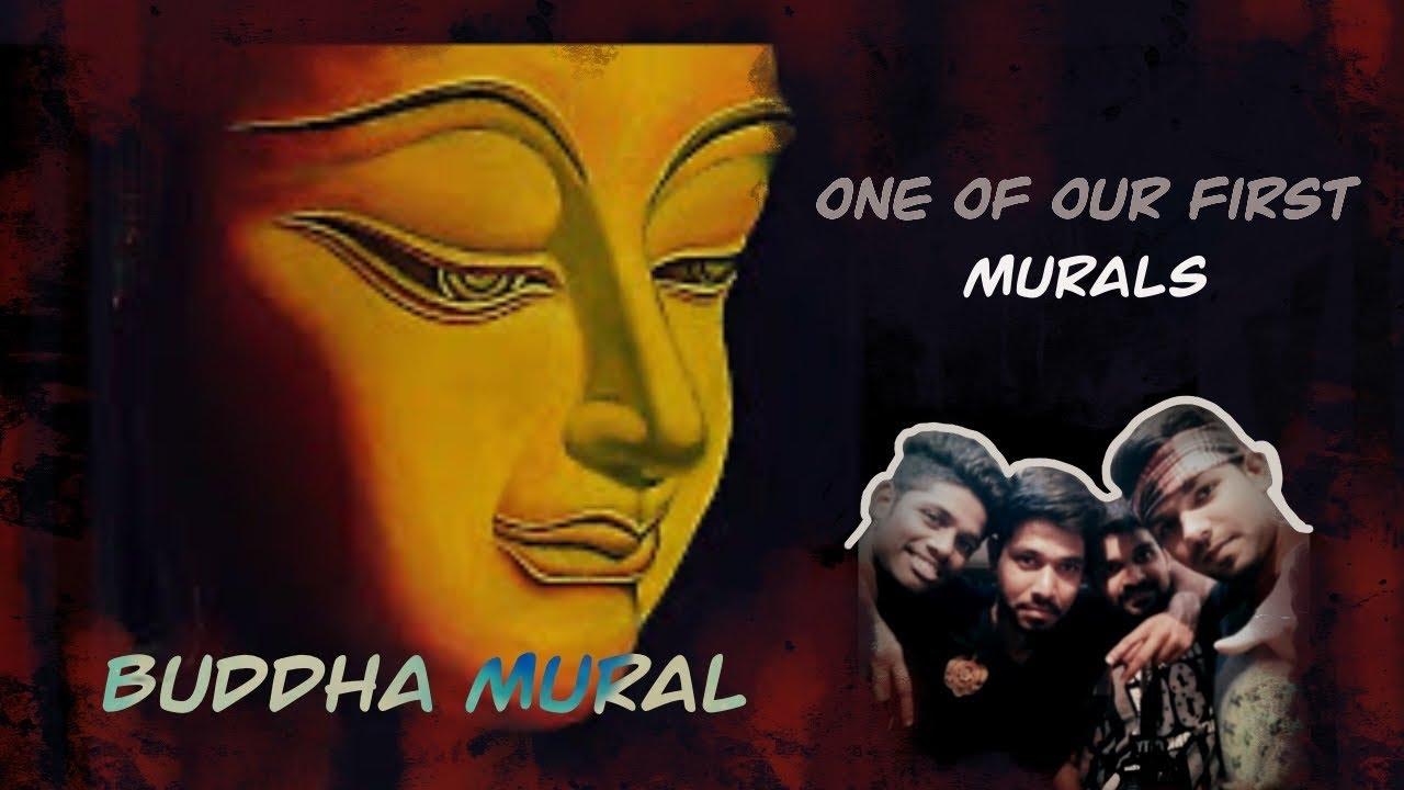 buddha wall mural hand drawn by kalakarah youtube buddha wall mural hand drawn by kalakarah