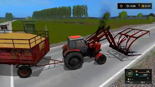 Farming Simulator 2017. мод трактор Беларус МТЗ 82. Стогомет
