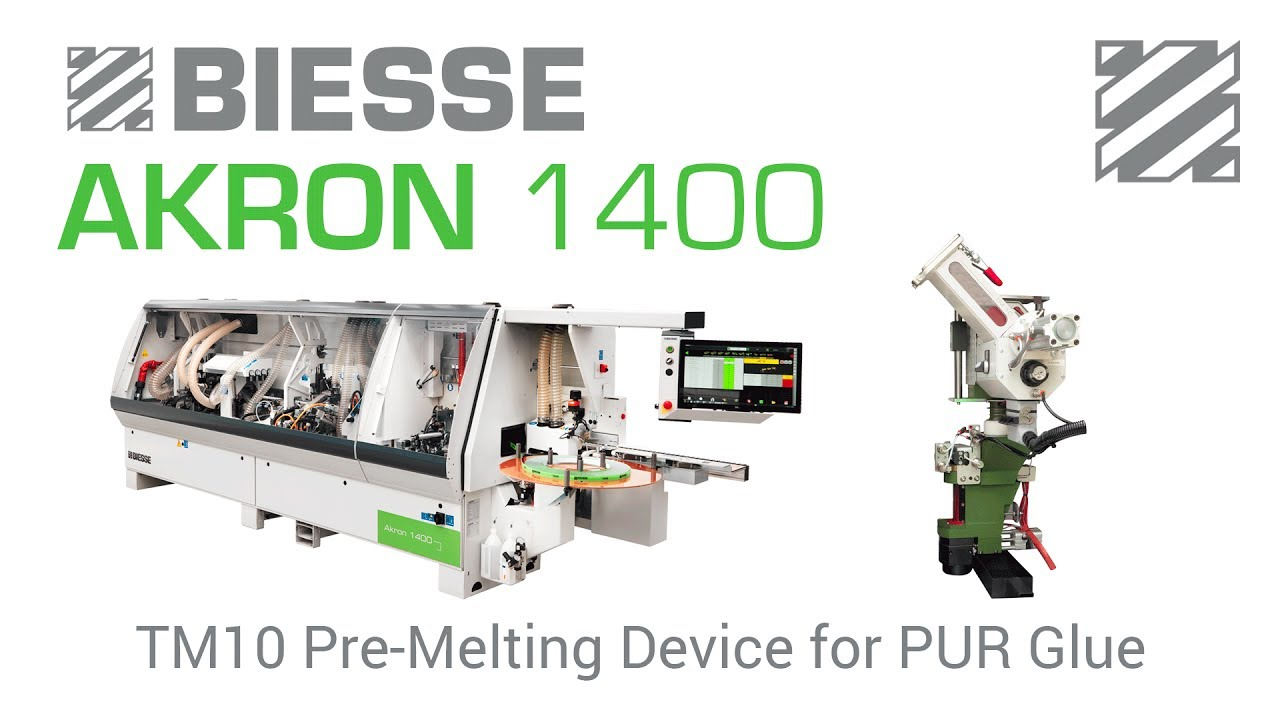 Biesse Akron 1400 - with TM10 Pre-Melting Unit for PUR Glue
