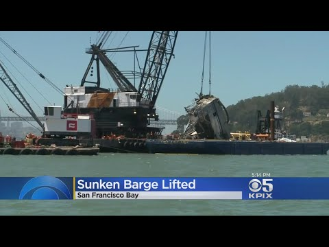 Salvage Team Raises Barge Sunk In San Francisco Bay