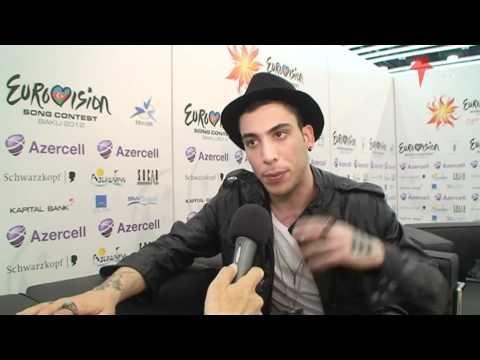 Interview Can Bonomo (Love Me Back - Turkey Eurovision 2012) In Baku