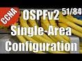 CCNA CCENT 200 120 OSPFv2 Single Area Configuration 51 84 Free Video Training Course mp3