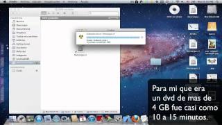 Grabar (quemar) archivos a un CD o DVD en Mac.