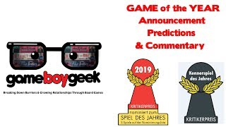 2019 Game of the Year (Spiel Des Jahres & Kennerspiel) Announcement, Predicitons, & Commentary