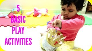 5 Basic ACTIVITIES using Home items