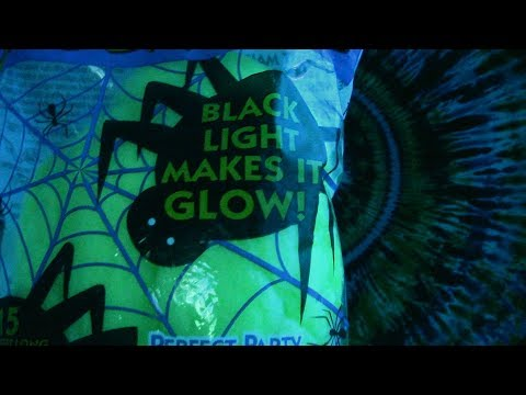 ASMR Black Light Spider Webs