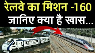 What is mission-160 of indian railways?