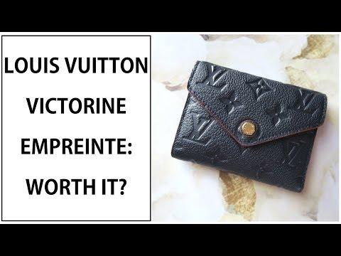 ab3c03d51 LV VICTORINE EMPREINTE WALLET REVIEW - YouTube