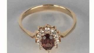 Золотое Кольцо Гранатом