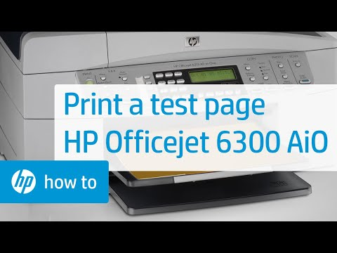 Printing A Test Page Hp Officejet 6300 All In One