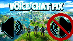 Fortnite Voice Chat Not Working After Update - Fix (Chapter 2)