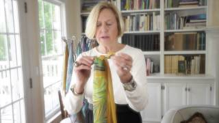 How to tie two oblong scarves together.