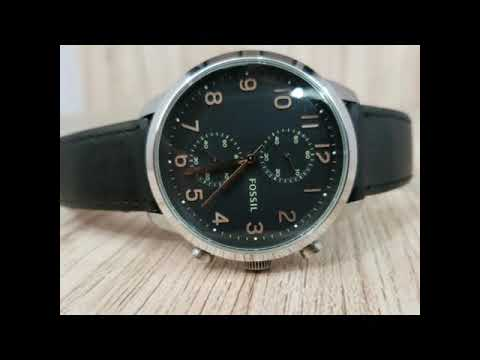 Fossil Townsman Chronograph Black Dial Brown Leather Men's Watch (original)