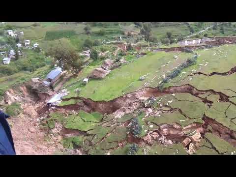 FALLA GEOLOGICA EN LUTTO-LLUSCO-CHUMBIVILCAS-CUSCO