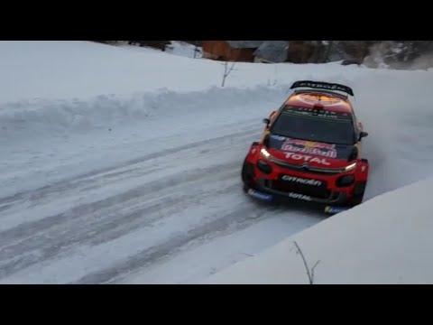 Ogier Citroën C3 WRC 2019 hiver Monte-Carlo