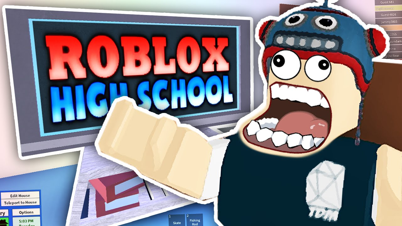 BUILDING HOUSES AT HIGH SCHOOL!! | Roblox