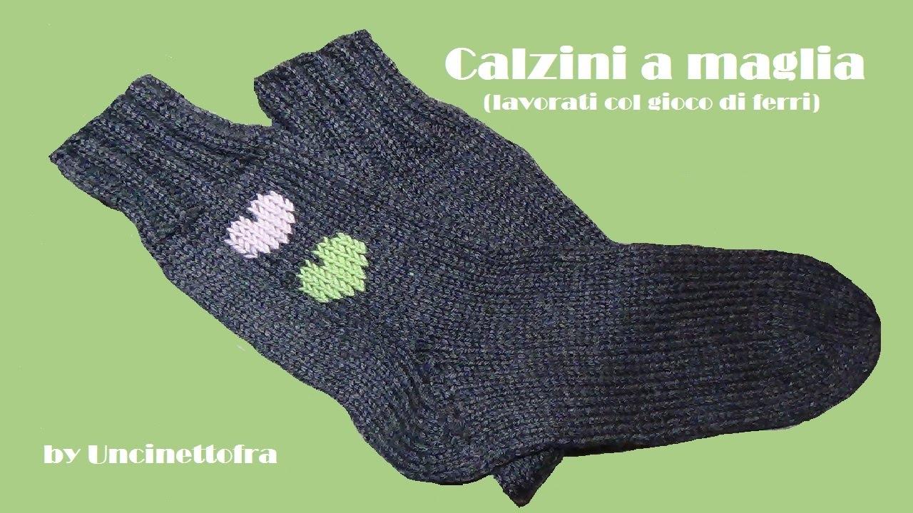 come fare i calzini a maglia (how to knit socks) parte 1 2 - YouTube 6ff9d3b6eaa2