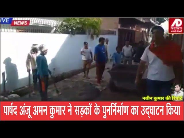 #hindi #breaking #news #apnidilli पार्षद अंजू अमन कुमार ने सडक़ों के पुनर्निर्माण का उद्घाटन किया