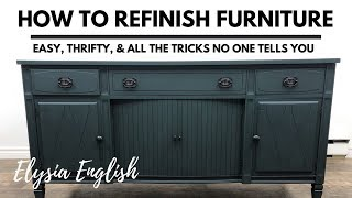 How to Refinish Furniture | Painting Furniture | Restoring Furniture