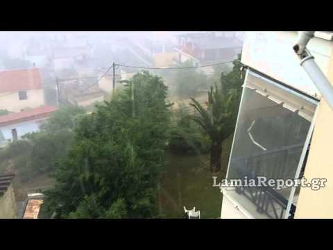 LamiaReport.gr: Καλοκαιρινή καταιγίδα στη Λαμία 21-06-15