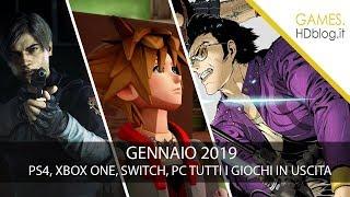 PS4, Xbox One, Switch e PC: videogiochi in uscita a GENNAIO 2019