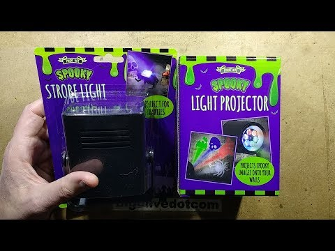 Poundland's 2017 Halloween projector and strobe.