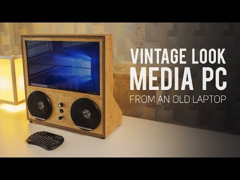 Vintage Look Media PC from an Old Laptop (SPECIAL BUILD)