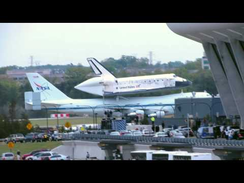 Space Shuttle Discovery Arrives at IAD Washington Dulles Air