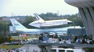 Space Shuttle Discovery Arrives at IAD Washington Dulles Airport