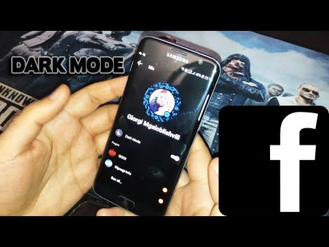 DARK MODE FACEBOOK MESSENGER NEW BACKGROUND ქართულად